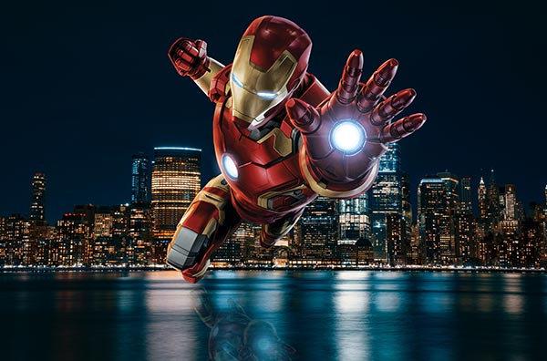 Efsane Avengers Duvar Kağıdı | Gece İron Man 3 Boyutlu Duvar Kağıtları