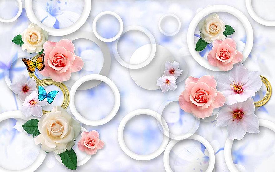 3 Boyutlu Çiçekli Duvar Kağıdı Modelleri