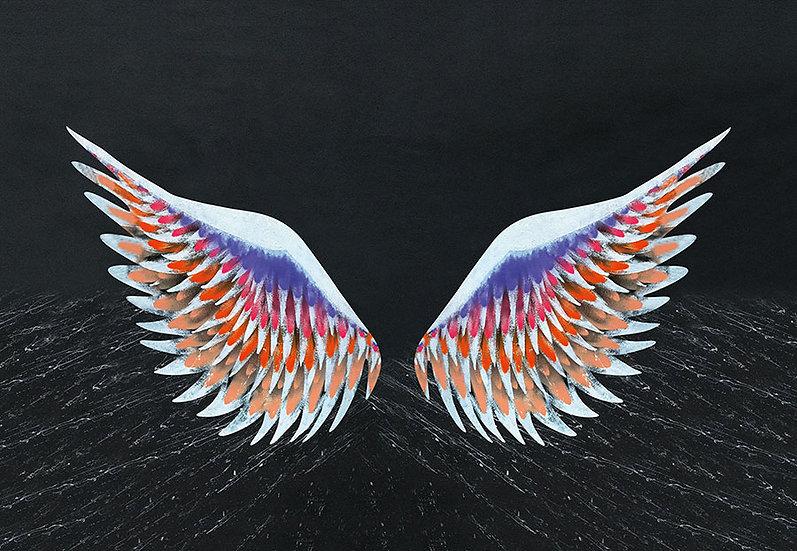 Suluboya Angel Hd Duvar Kağıtları | 3 Boyutlu Renkli Angel Duvar Kağıtları