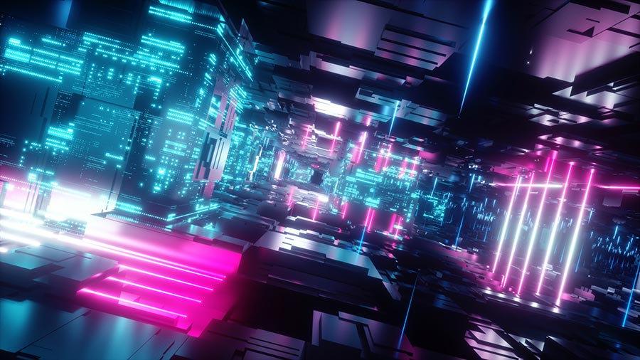 3 Boyutlu Neon Duvar Kağıtları   3D Led Tasarım Neon Işıkları Duvar Kağıtları