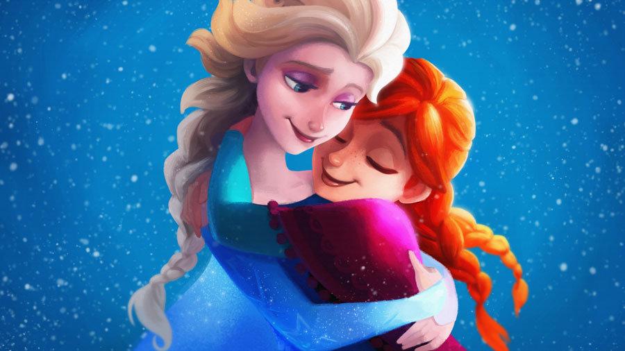 Elsa ve Anna 3D Duvar Resimleri | Anna Elsa Duvar Kağıtları | Afyon