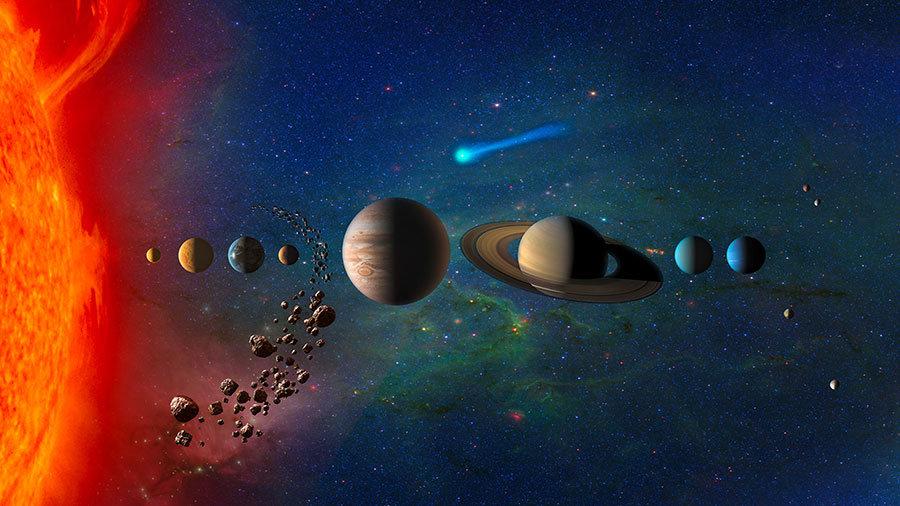 3 Boyutlu Gezegenler Duvar Kağıtları | Dokulu Evren Duvar Kağıtları