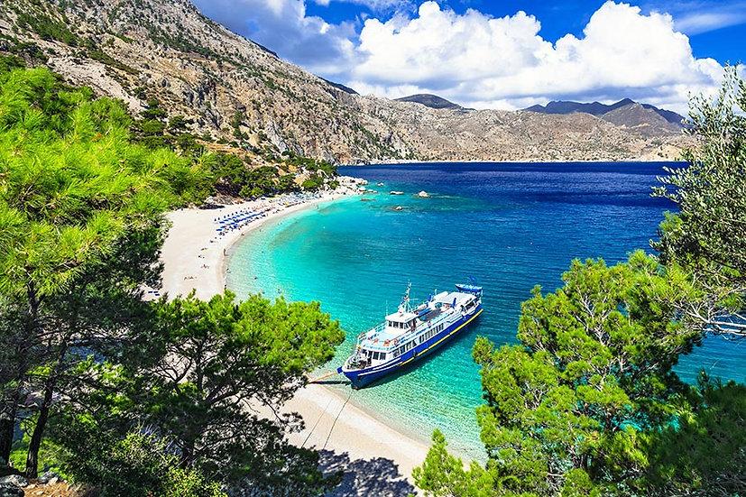 3 Boyutlu İtalya Kağıtları | Dokulu Yunan Adaları Apella Beach Duvar Kağıtları