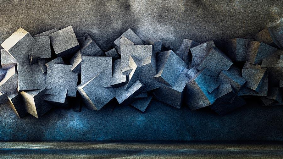 3 Boyutlu Kabartmalı Tv Arka Plan Duvar Kağıtları | 3D Küp Duvar Kağıtları