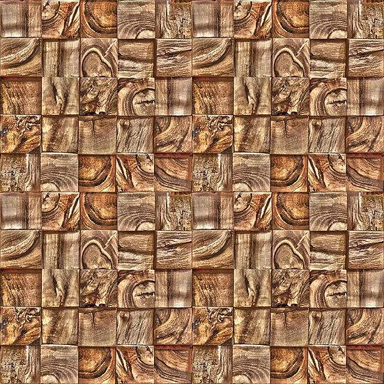 3D Dokulu Ahşap Görseli Duvar Kağıdı | 3D Şekilli Ağaç Desen Duvar Kağıtları