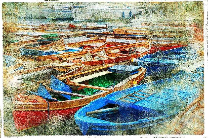 3D Balıkçı Teknesi Duvar Kağıdı | Full HD Eski Tekneler Duvar Kağıtları