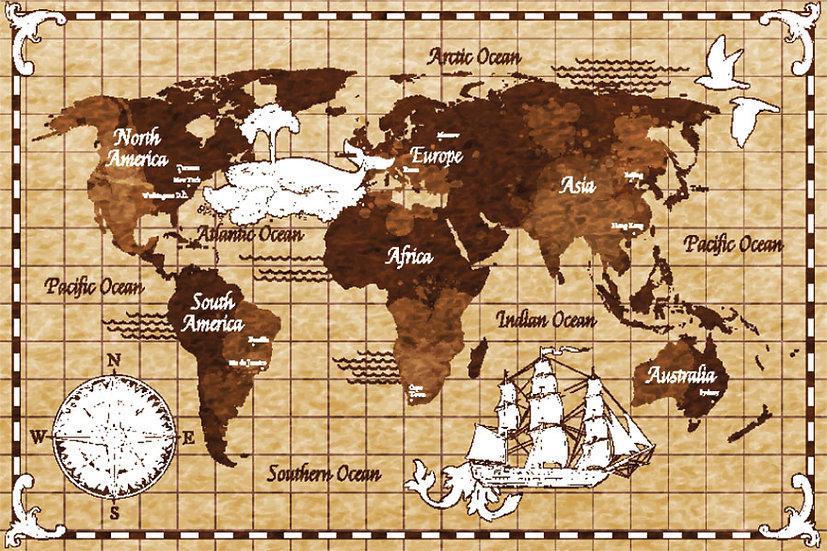 Eskitme Dünya Haritası Duvar Kağıtları Modelleri