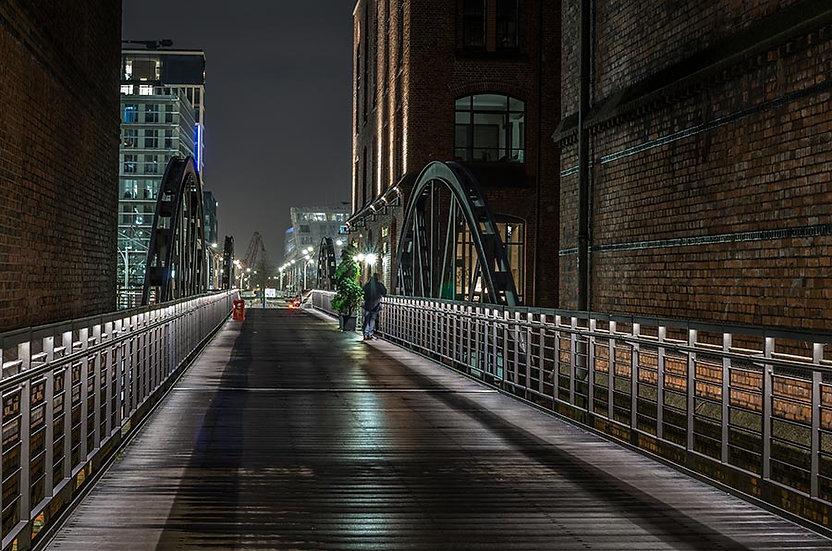 3 Boyutlu Köprü Manzaralı Duvar Kağıdı   Derinlikli Duvar Kağıdı