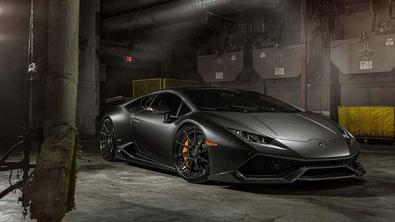 Lamborghini Huracan Duvar Kağıtları Modelleri | 3D Siyah Araba Duvar Kağıdı