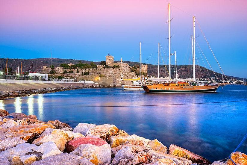 3 Boyutlu Yat Liman Duvar Kağıdı | HD Kalite Gece Manzara Duvar Kağıtları