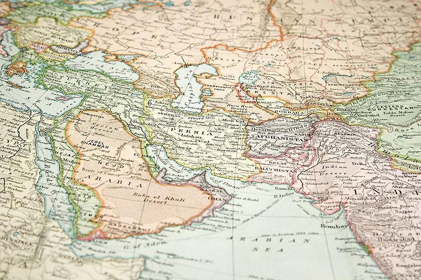 Retro Dünya Harita 3 Boyutlu Duvar Kağıdı Modelleri