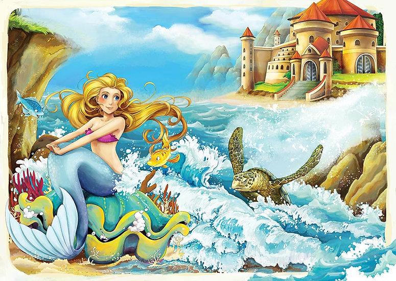 3 Boyutlu Animasyon Duvar Kağıtları | Deniz Kızı Animasyon Duvar Kağıtları