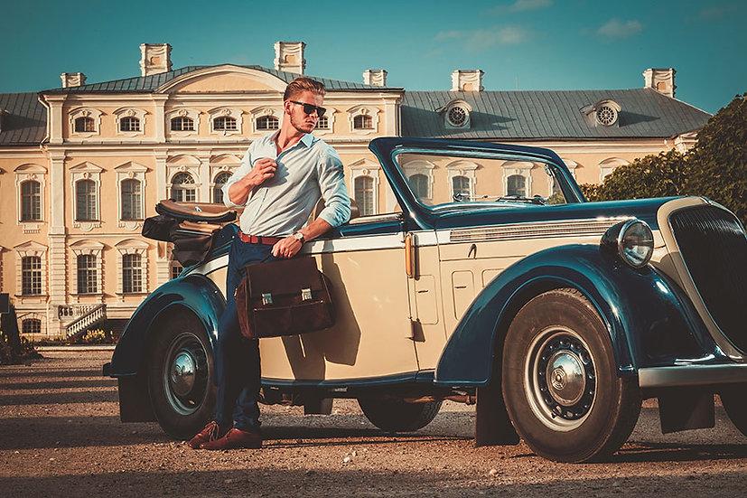 Klasik Araba Manzaralı Duvar Kağıtları   Eski Nostalji Duvar Kağıtları