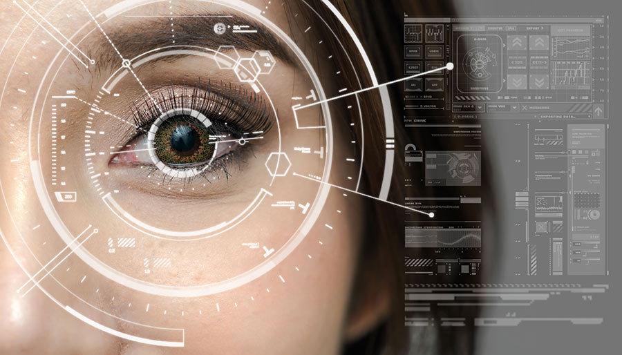Göz Tasarımı Scan Duvar Kağıdı | 3D Yüz Taraması Duvar Kağıtları
