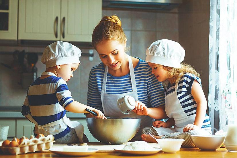 3 Boyutlu Duvar Kağıtları HD   Dokulu Aile Pasta Yapımı Duvar Kağıtları