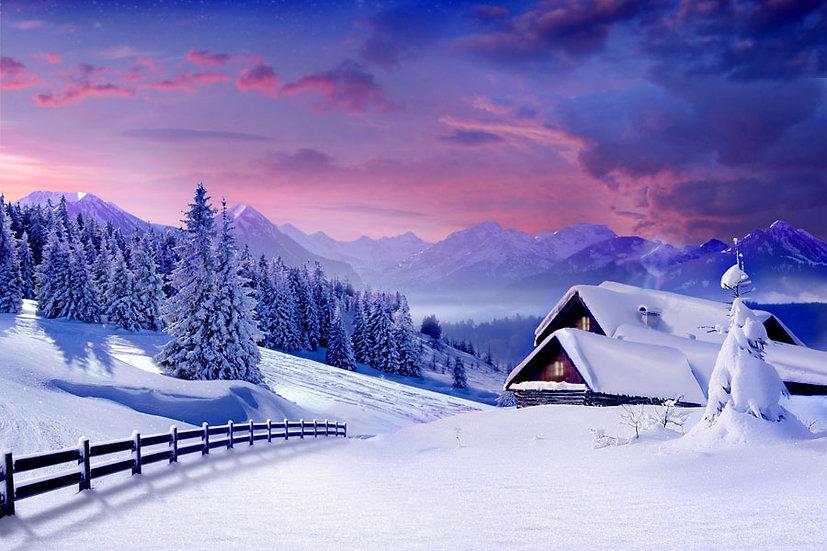 Üç Boyutlu Kış Manzara Duvar Kağıtları   Dağ Manzara Duvar Kağıtları Şekilleri