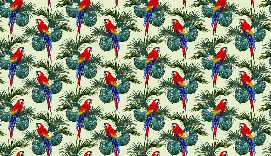 3D Çiçek Deseni Duvar Kağıdı   Muhteşem Papağan Desenli Duvar Kağıtları