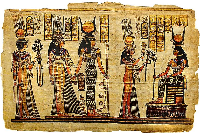 Mısır Piramitleri Vintage Duvar Kağıdı | Mısır Piramit Yazıları Duvar Kağıdı