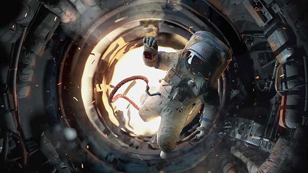 3D Animasyon Uzay Gemisi Duvar Kağıdı   HD Astronot Duvar Posteri