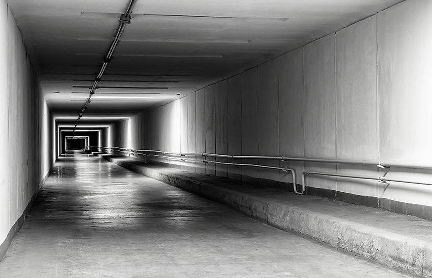 Belçika Duvar Kağıtları 3 Boyutlu | Dokulu Karanlık Tünel Duvar Kağıtları