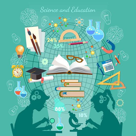 3 Boyutlu Eğitim Nesneleri Duvar Kağıdı   Dokulu Eğitim Duvar Kağıtları