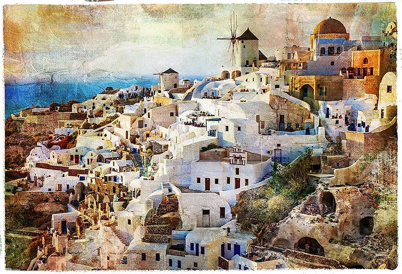 Mykonos Duvar Kağıdı | Kafe Eskitme Duvar Kağıtları