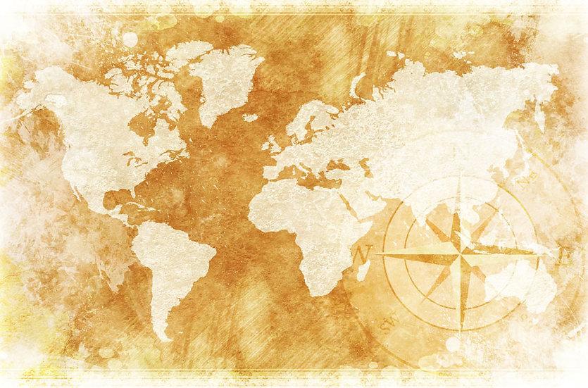 Eskitilmiş Dünya Haritası | 3D Eskitilmiş Dünya Haritası Duvar Posteri | Antalya