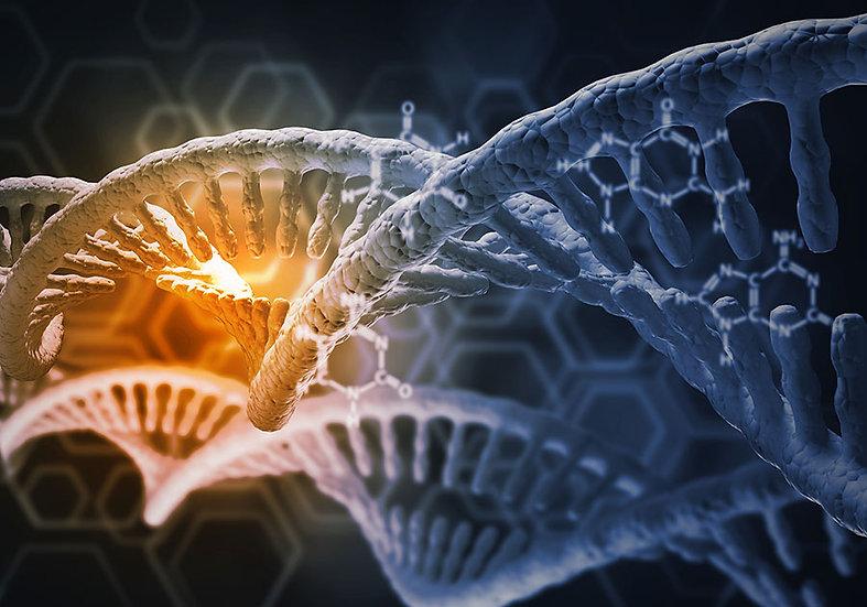 3 Boyutlu Tasarım Duvar Kağıtları | Dokulu Zedelenmiş DNA Duvar Kağıtları