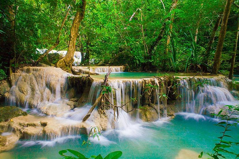 Güzel Derin Orman Şelale Duvar Kağıtları   Erawan Şelalesi Duvar Kağıtları