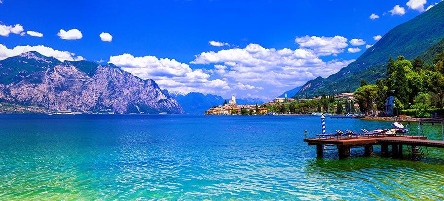 3 Boyutlu Duvar Kağıtları | Muhteşem İtalya Zümrüt Göl Duvar Kağıtları
