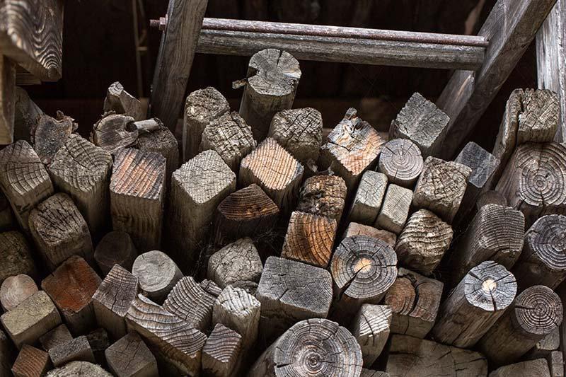 3D Ağaç Evler Duvar Kağıdı | Odunluk Görselli Ağaç Duvar Kağıtları