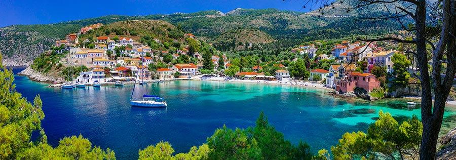 3 Boyutlu Duvar Kağıtları HD| Efsane Yunanistan Assos Koyu Duvar Kağıtları