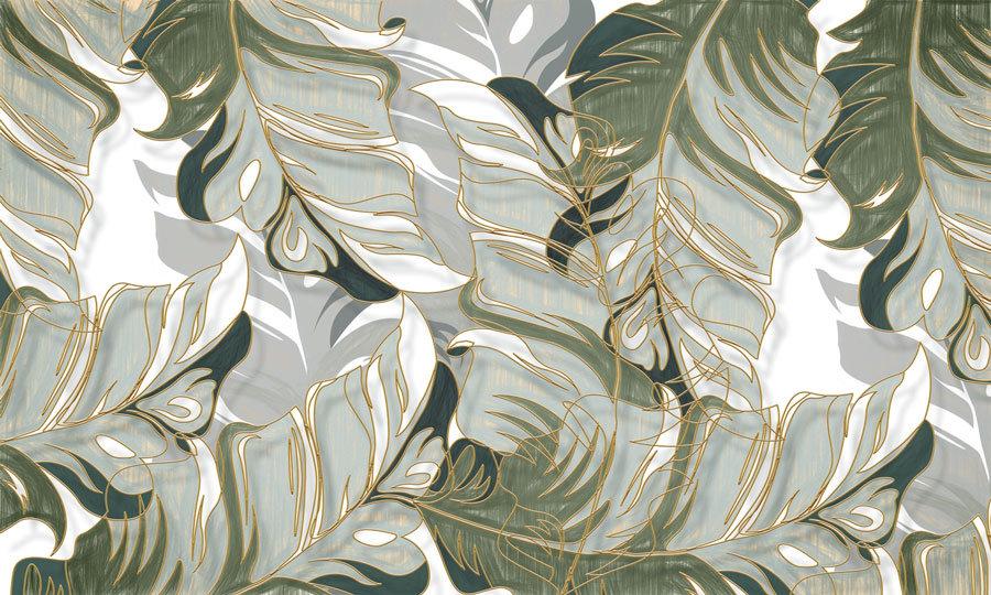 Küf Yeşili Yapraklar Duvar Kağıdı | Küf Yeşil Renkli Duvar Kağıdı | Adapazarı