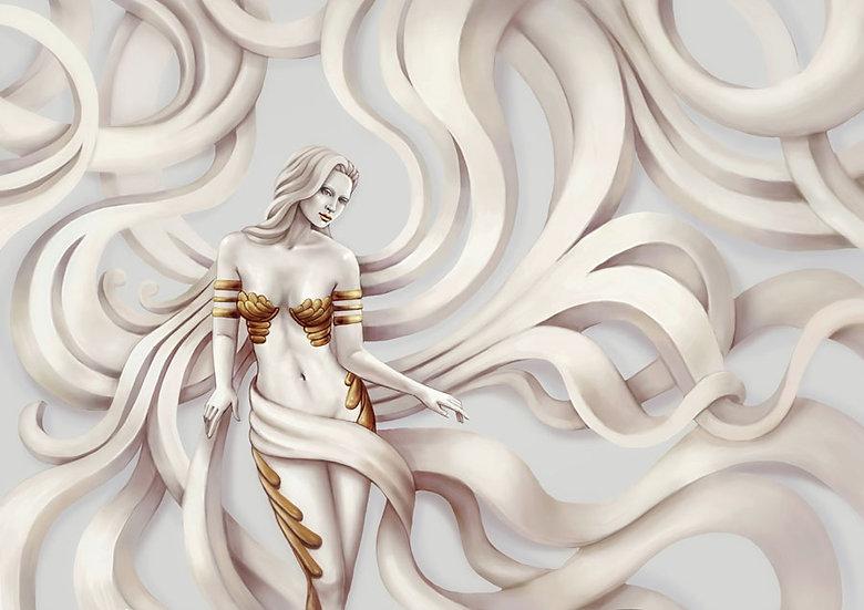 3D Medusa Şeytanı Duvar Kağıdı   Medusa Duvar Kağıtları