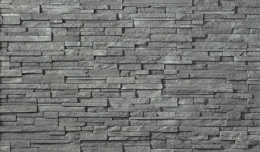 Dokulu Gri Tuğla Dizayn Duvar Kağıtları | HD Taş - Tuğla Duvar Kağıdı | Bartın