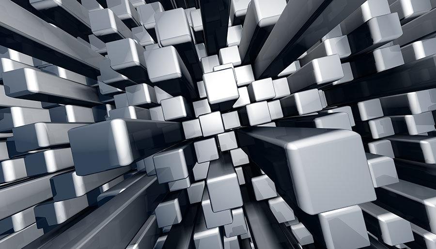 3D Gri Küpler Duvar Kağıdı | 3D Duvar Kağıtları