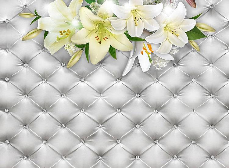 3 Boyutlu Beyaz Çiçekler Duvar Kağıdı Modelleri