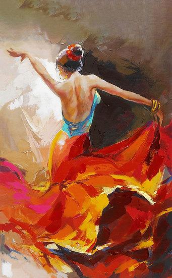 Tango Yapan Bayan Tablo Duvar Kağıdı | Tango Dansı Duvar Kağıdı | İstanbul