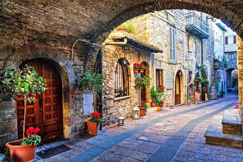 3 Boyutlu Duvar Kağıtları HD | Efsane İtalya Sokak Manzara Duvar Kağıtları