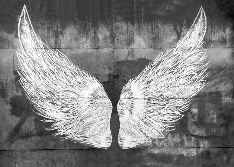 3D Melek Kanatlı Duvar Posterler | Angel Wings Kanatları Duvar Kağıtları