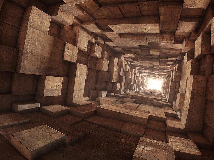 3D Tünelin Sonu Duvar Kağıdı   Muhteşem Tünel Duvar Kağıtları