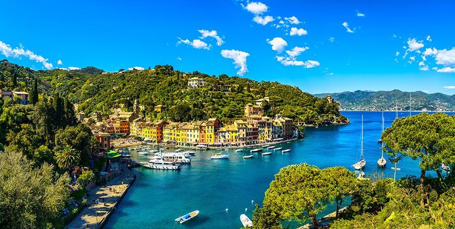 3 Boyutlu Duvar Kağıtları | Full HD İtalya Yat Limanı Şehri Duvar Kağıtları