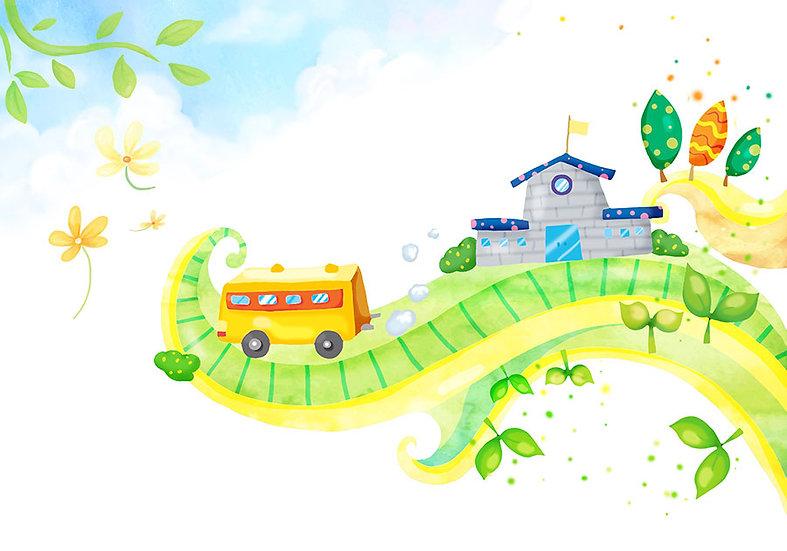 Full HD Bebek Odası Duvar Kağıtları | 3D Okul Yolu Duvar Kağıtları