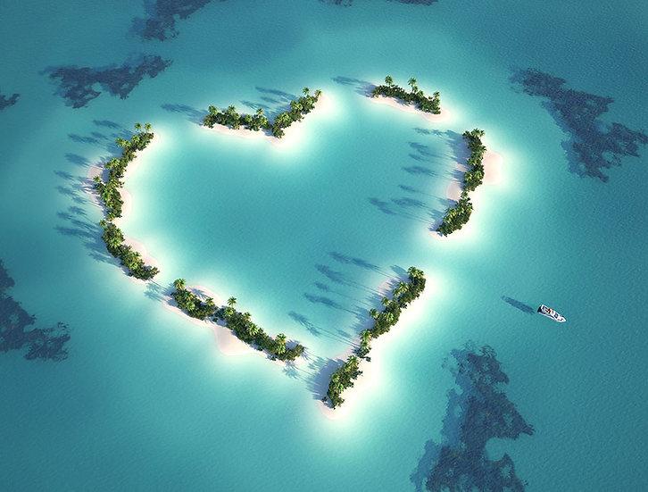 HD Dokulu Kalp Adası Duvar Kağıtları | 3 Boyutlu Görsel Sanat Duvar Kağıtları
