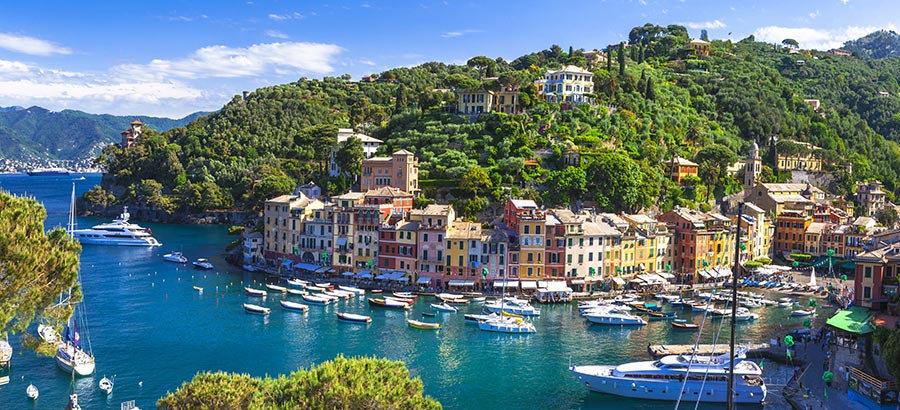 3 Boyutlu İtalya Kağıtları | Dokulu HD Liguria Sahil Şehri Duvar Kağıtları