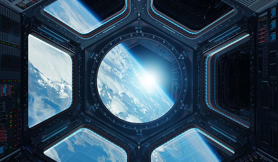 3 Boyutlu Tasarım Duvar Kağıtları | Dokulu Uydudan Earth Bakışı Duvar Kağıtları