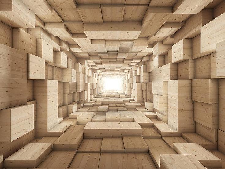 3D Tünelin Sonu Duvar Kağıdı | Muhteşem Tünel Duvar Kağıtları