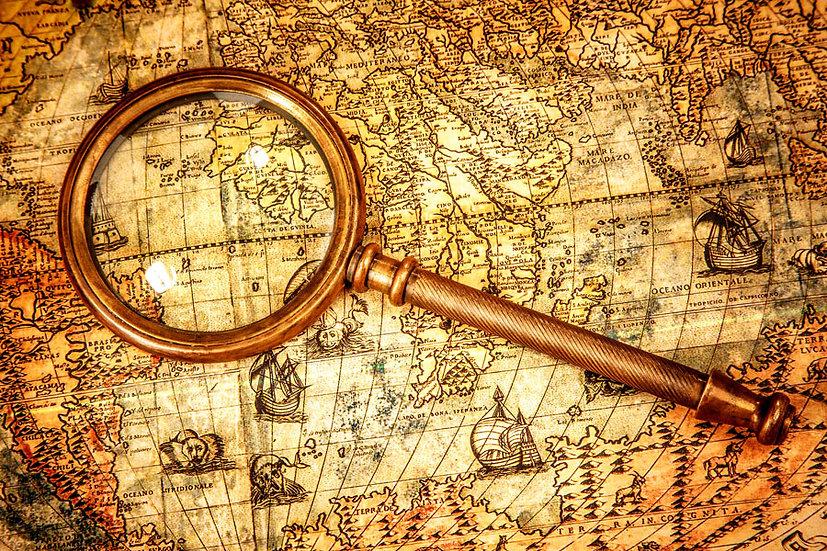 Eski Mercek Haritası | 3D Eski Mercek Haritası Duvar Posteri | Rize