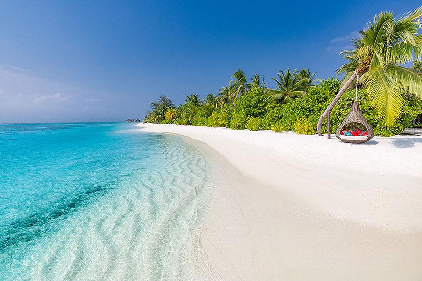 Maldivler Duvar Kağıdı | 3D Maldivler Sahili Duvar Kağıdı