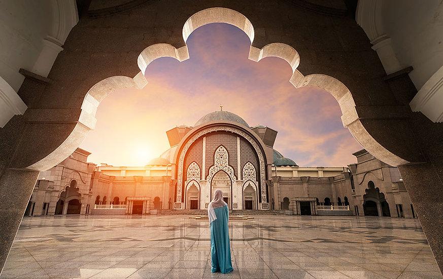 3 Boyutlu Manzaralı Duvar Kağıdı Örnekleri | Cami Kapısı Girişi